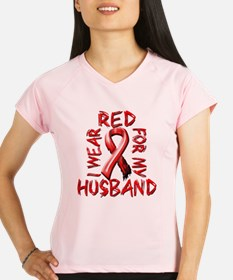 I Wear Red for my Husband Performance Dry T-Shirt