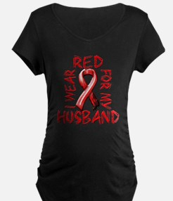 I Wear Red for my Husband T-Shirt