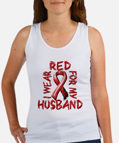I Wear Red for my Husband Women's Tank Top