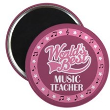 Worlds Best Music Teacher Magnet