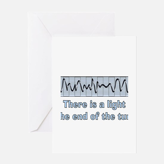 v-fib light at end of tunnel.PNG Greeting Card