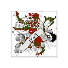 """Scott Tartan Lion Square Sticker 3"""" x 3"""""""