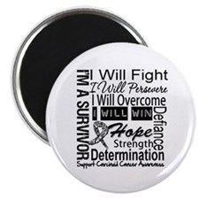 """Carcinoid Cancer Persevere 2.25"""" Magnet (10 pack)"""