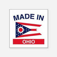 "Made in Ohio 1.png Square Sticker 3"" x 3"""