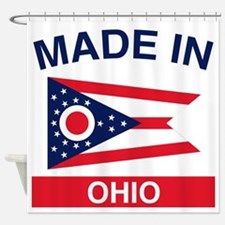 Made in Ohio 1.png Shower Curtain