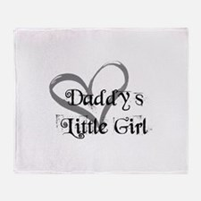daddys little girl Throw Blanket