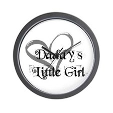 daddys little girl Wall Clock