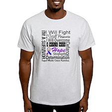 Bladder Cancer Persevere T-Shirt