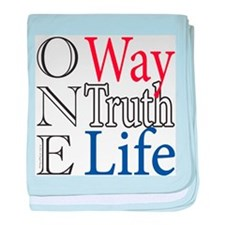 One Way, Truth, Life baby blanket