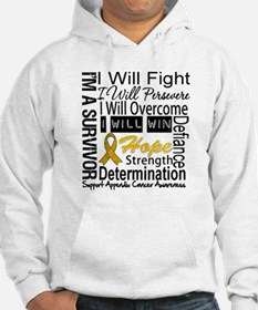Appendix Cancer Perseverance Hoodie
