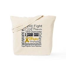 Appendix Cancer Perseverance Tote Bag