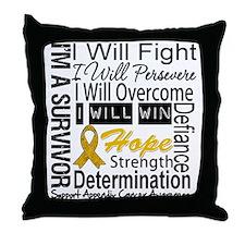 Appendix Cancer Perseverance Throw Pillow