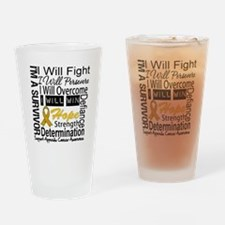 Appendix Cancer Perseverance Drinking Glass