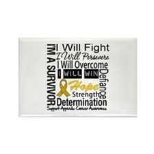 Appendix Cancer Perseverance Rectangle Magnet
