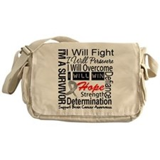 Brain Cancer Persevere Messenger Bag