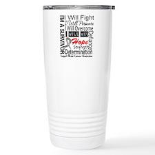 Brain Cancer Persevere Travel Mug