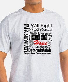 Brain Cancer Persevere T-Shirt