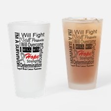 Brain Cancer Persevere Drinking Glass