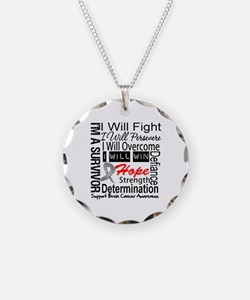 Brain Cancer Persevere Necklace