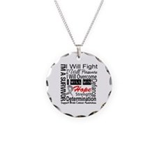 Brain Cancer Persevere Necklace Circle Charm