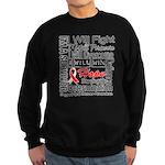 Oral Cancer Persevere Sweatshirt (dark)