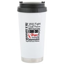 Oral Cancer Persevere Travel Mug