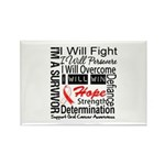 Oral Cancer Persevere Rectangle Magnet (100 pack)