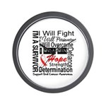 Oral Cancer Persevere Wall Clock