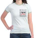 Oral Cancer Persevere Jr. Ringer T-Shirt