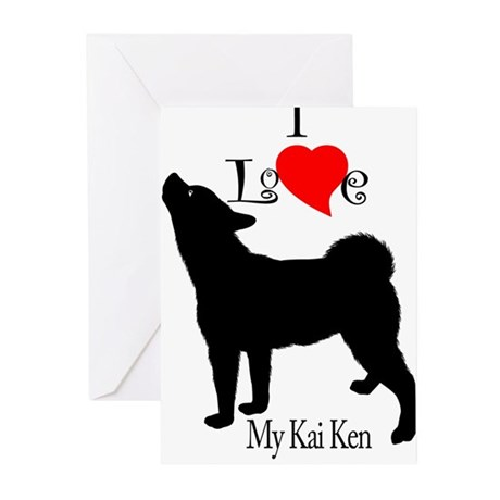 Kai Ken Greeting Cards (Pk of 10)