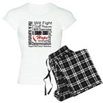 Oral Cancer Persevere Women's Light Pajamas