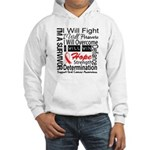 Oral Cancer Persevere Hooded Sweatshirt