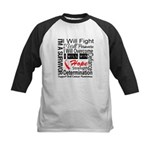 Oral Cancer Persevere Kids Baseball Jersey
