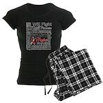 Oral Cancer Persevere Women's Dark Pajamas