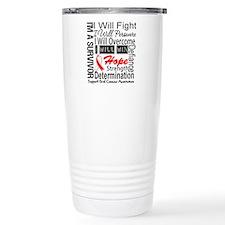Oral Cancer Persevere Travel Mug