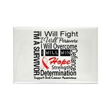 Oral Cancer Persevere Rectangle Magnet