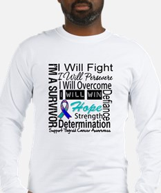 Thyroid Cancer Persevere Long Sleeve T-Shirt