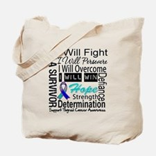 Thyroid Cancer Persevere Tote Bag