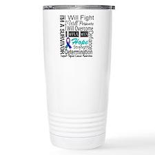Thyroid Cancer Persevere Travel Mug
