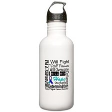 Thyroid Cancer Persevere Water Bottle