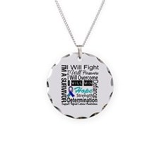 Thyroid Cancer Persevere Necklace