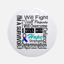 Thyroid Cancer Persevere Ornament (Round)