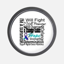 Thyroid Cancer Persevere Wall Clock