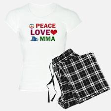 Peace Love MMA Designs Pajamas