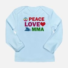 Peace Love MMA Designs Long Sleeve Infant T-Shirt