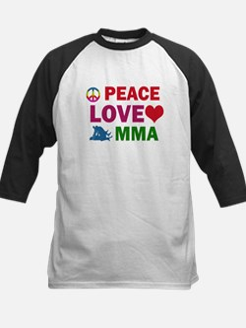 Peace Love MMA Designs Kids Baseball Jersey