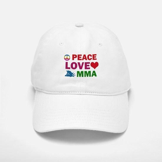 Peace Love MMA Designs Baseball Baseball Cap