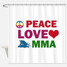 Peace Love MMA Designs Shower Curtain