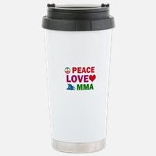 Peace Love MMA Designs Stainless Steel Travel Mug