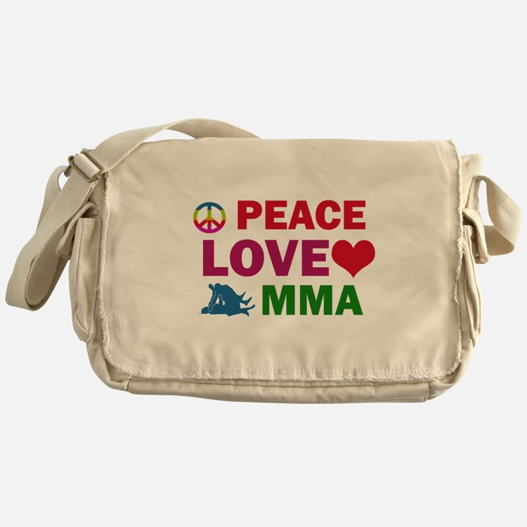 Peace Love MMA Designs Messenger Bag